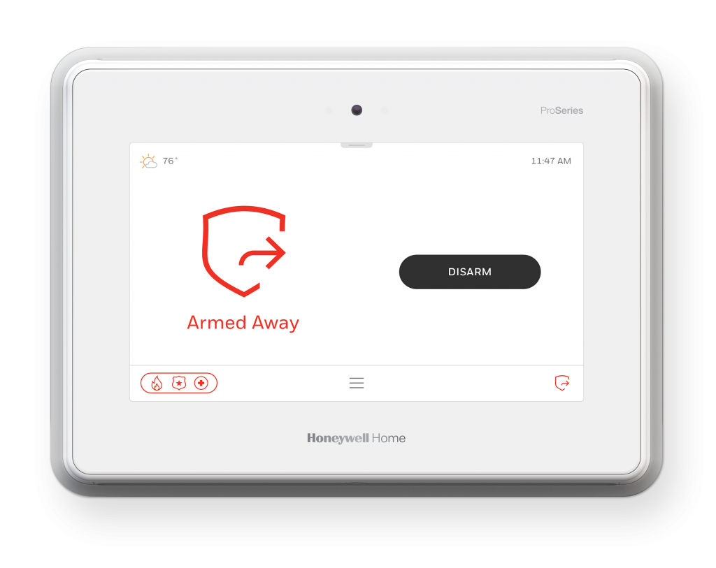 Honeywell proseries for home security systems