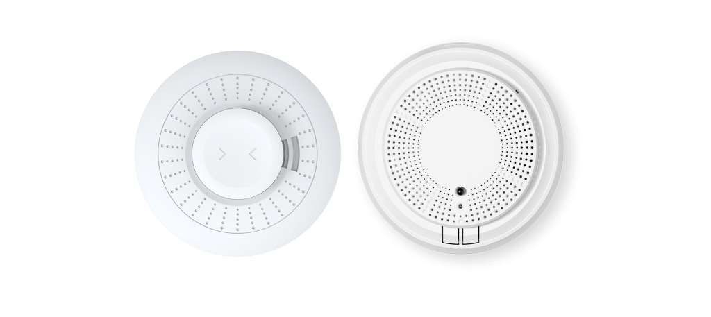 Fire and CO monitors for home security systems