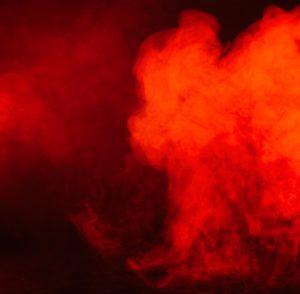 red coloured smoke